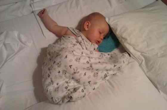Slapen in het grote bed