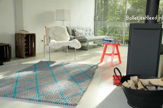hay-streep-design-tapijt-grijs-rechthoekig
