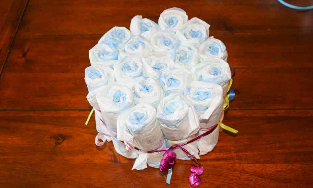 luiertaart diaper cake 6 star