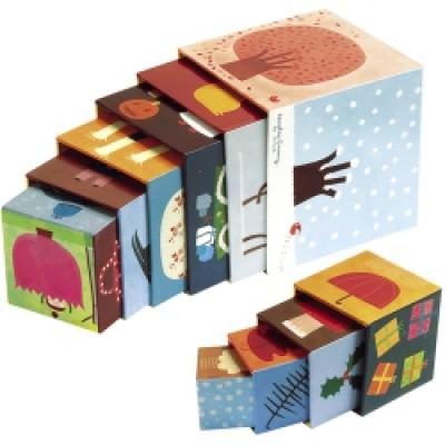 kartonnen stapelblokken janod-stapeltoren-4-seizoenen