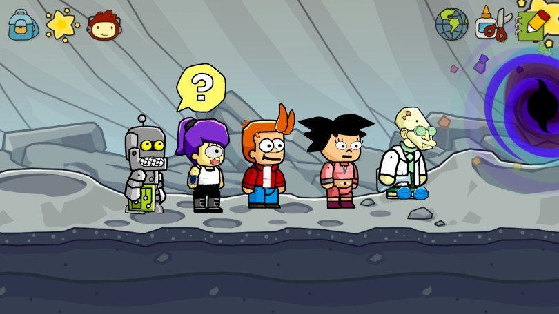 The characters from Futurama
