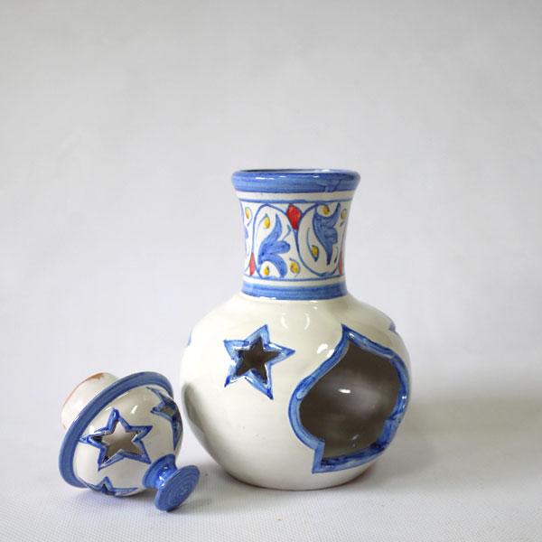 Blue ceramic air freshener