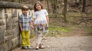 Outdoor Easter Family Portraits   Landri & Easton
