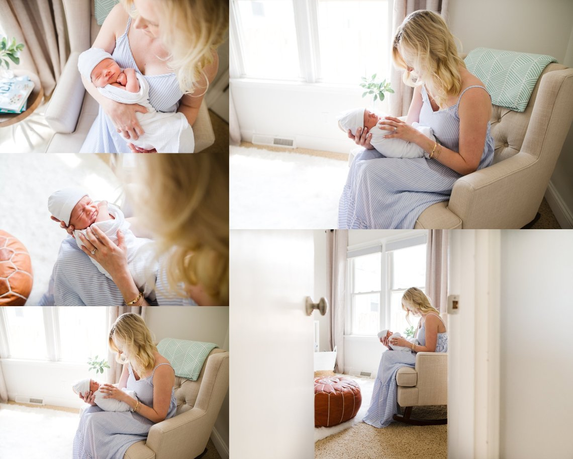 Newborn Lifestyle Photographer {New Albany Indiana Newborn Photographer}