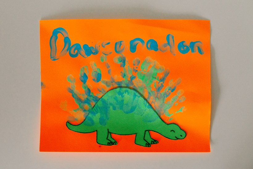 Dinosaur Craft at a Birthday Party