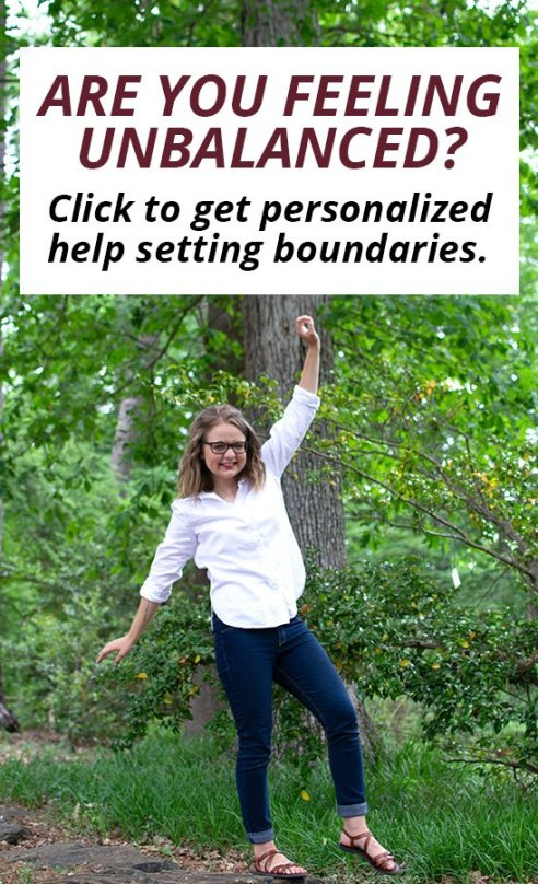 Are you feeling unbalanced in life? Get 1:1 personalized life coaching help setting healthy boundaries for women and for millennials.