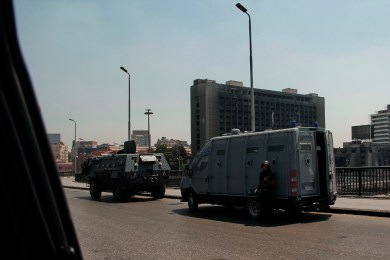 Near Tahrir square and in any vital place army and police forces were at presence and in some places they closed main roads.