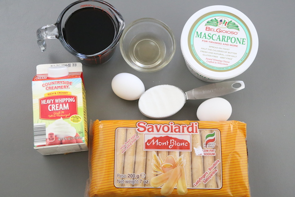 Ingredients for Best Tiramisu Recipe