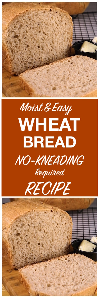 Moist Wheat Bread Recipe {Easy Bread} | Alyona's Cooking