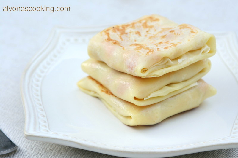 Stuffed-pocket-blini-crepes-chicken-blinchki-ukrainian-russian crepes-light yellow crepes-delicate-don't tear easy-delicious