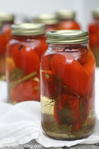 pickled tomatoes, canned tomatoes