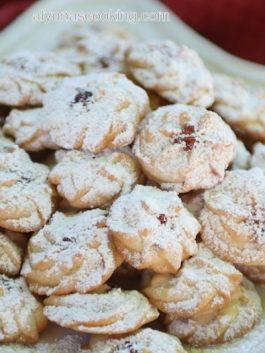 russian-butter-cookies-flower-bites-tea-cookies-powdered-sugar-jam