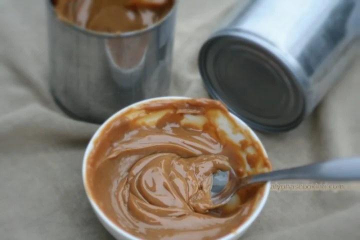 Dulce de leche, cooked condensed milk, easy carmel sauce, super easy carmel recipe, carmel, how to make carmel, easy, milk, condensed milk,