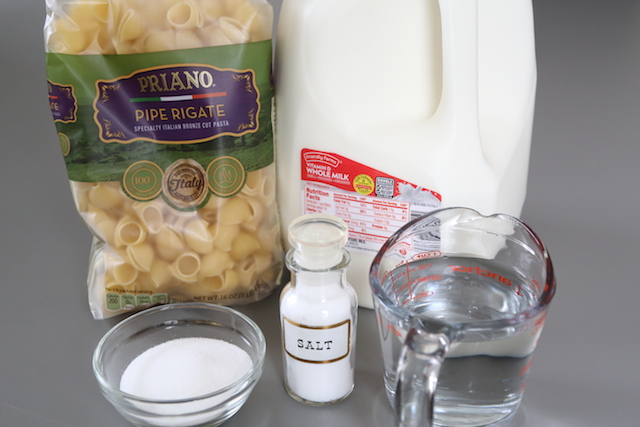 Ingredients for Pasta with Milk {Milk Soup}
