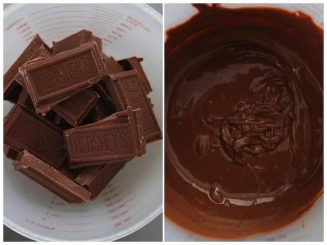 cream puff melted chocolate