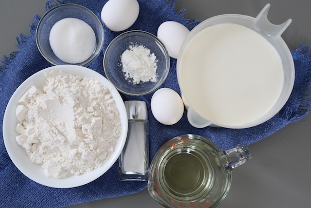 ingredients for crepes