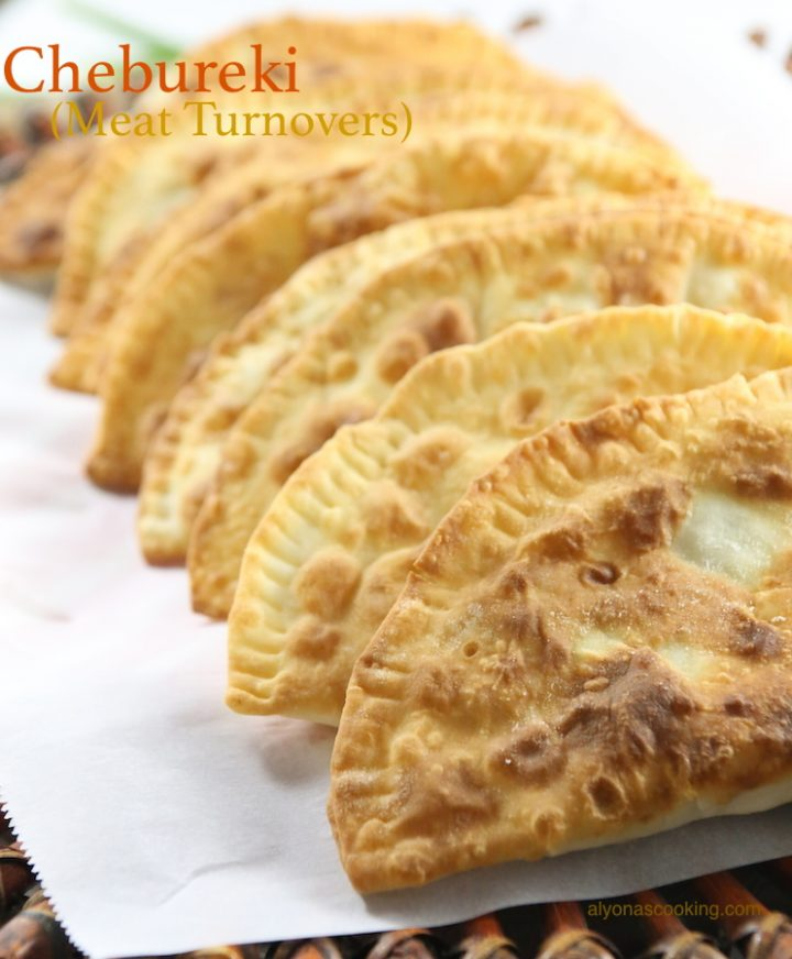 chebureki-meat turnovers- pork turnovers