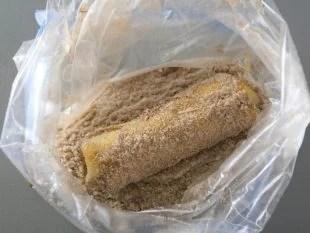 cheesecake chimichangas in the cinnamon sugar coating