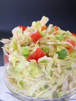 oil & vinegar cabbage salad