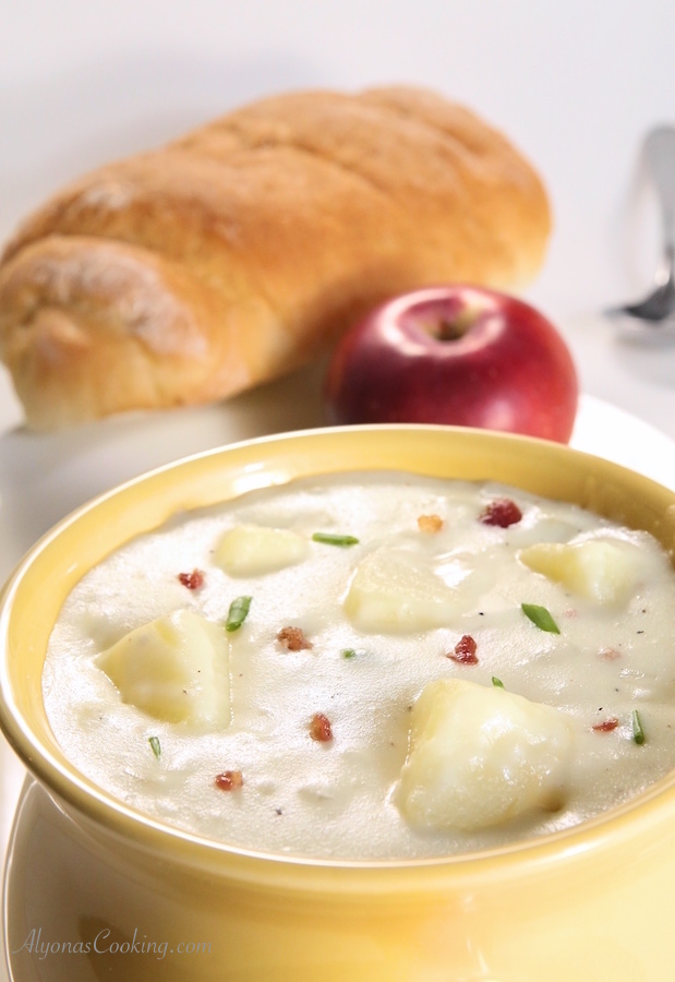 Easy Potato Soup, Baked Potato Soup - Panera Bread Copycat Recipe