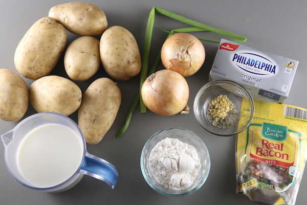 Ingredients for Baked Potato Soup Panera Bread Copycat Recipe: