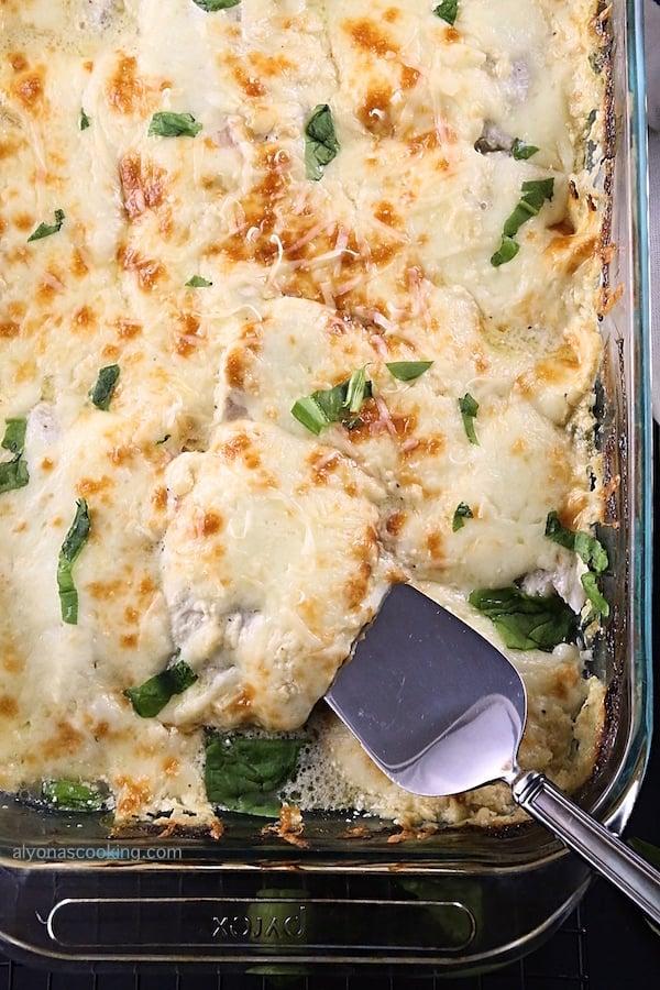 Creamy-Baked-Tilapia-Spinach-Casserole