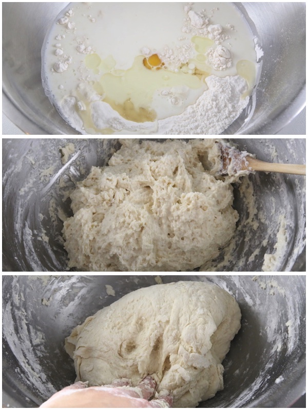 placinta-dough step 1-3