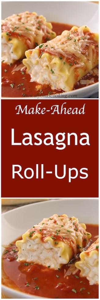 Pin Lasagna Roll Ups Recipe {Make-Ahead}
