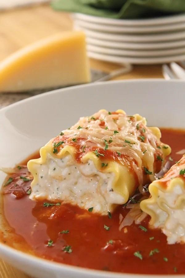 Lasagna Roll Ups Recipe {Make-Ahead}