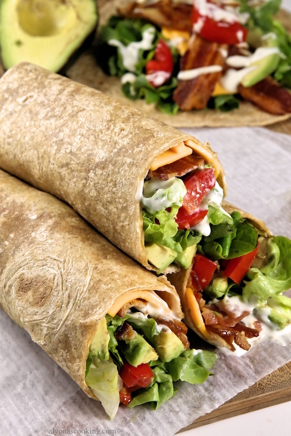 avocado-bacon-ranch-wraps-blt-alyonascooking