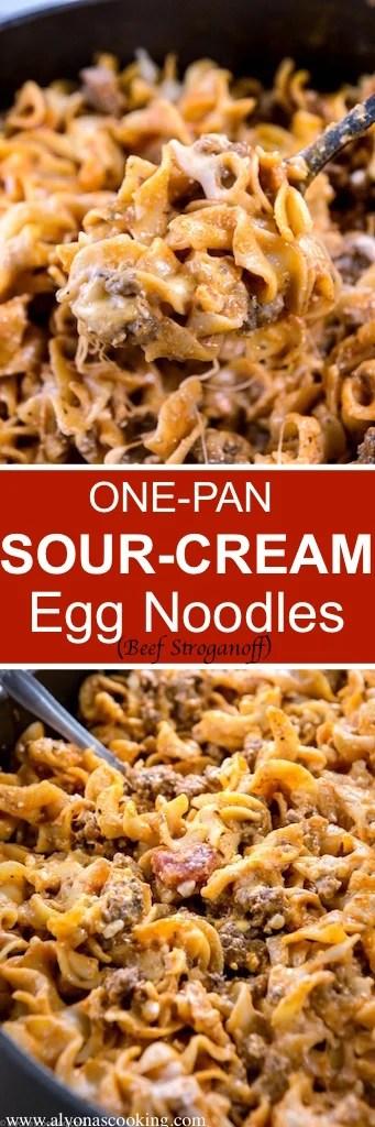 easy-one-pan-sour-cream-egg-noodles-beef-stroganoff-alyonascooking-