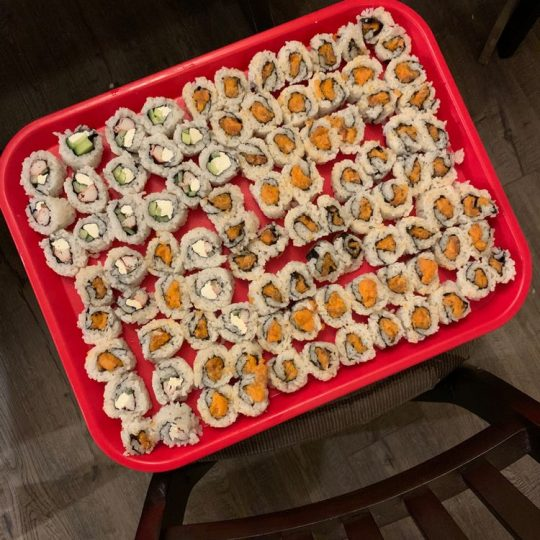 sushi rolls with the perfect sushi rice