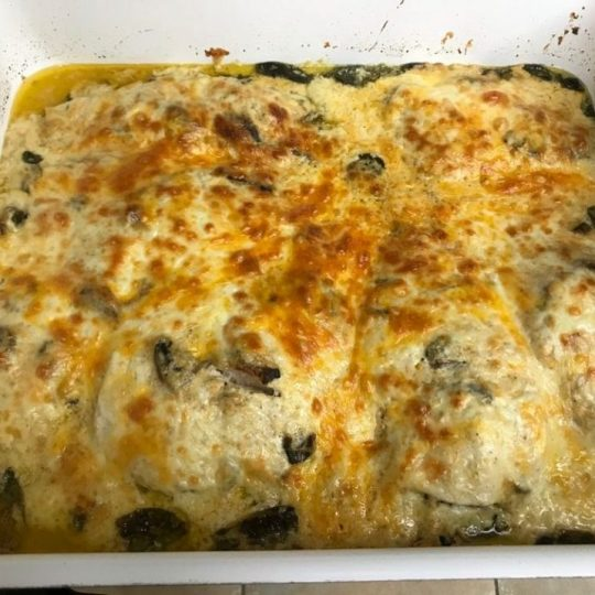 creamy spinach chicken casserole