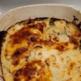 creamy spinach chicken bake