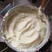 creamy mashed potatoes beaten with a mixer