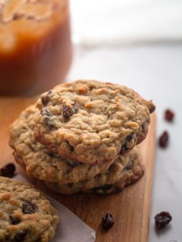 oatmeal raisin cookies with our family garden applesauce