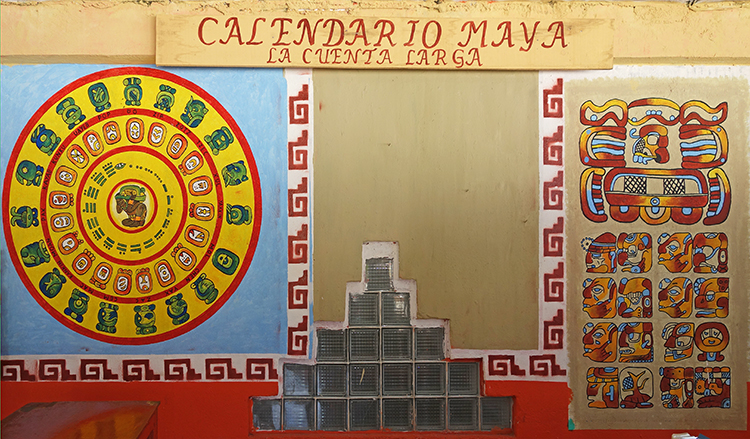 Calendario Maya at the crafts village