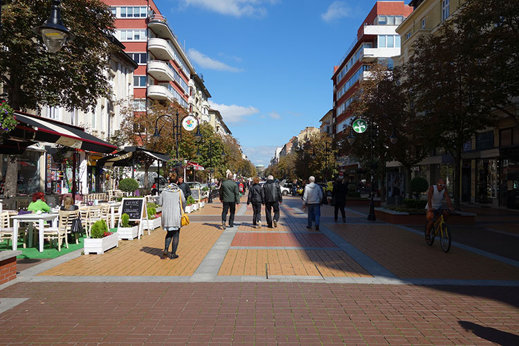 Vitosha boulevard in Sofia Bulgaria