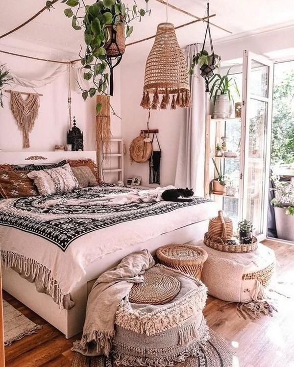 Boho-style-bedroom-design Chic Bohemian Interior Design Ideas