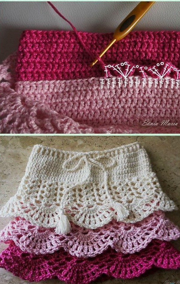 Crochet-Girl's-Skirt-Free-Patterns Easy Crochet Patterns And Projects For Beginners