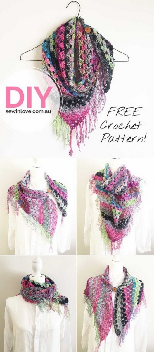 Crochet-Noro-Scarf Easy Crochet Patterns And Projects For Beginners