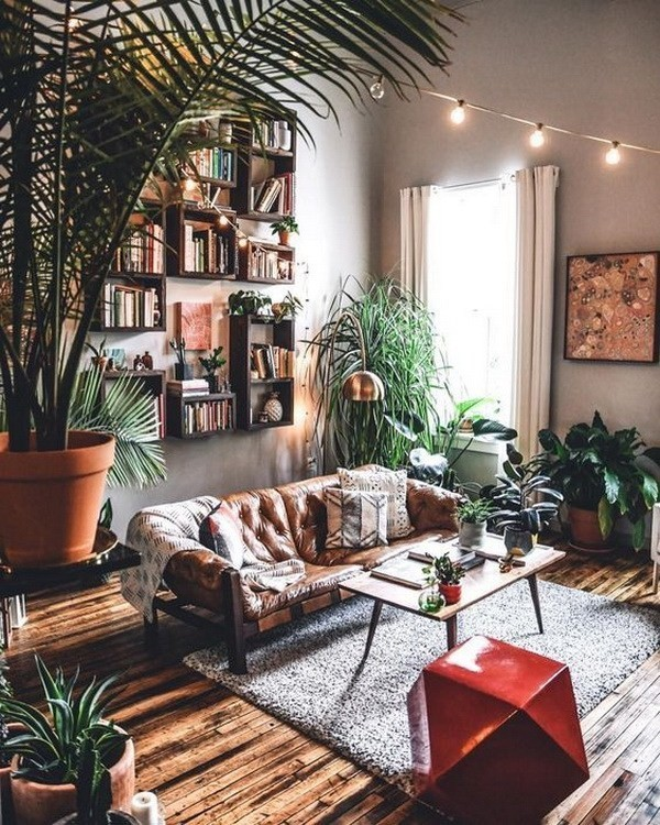 Industrial-bohemian-living-room Chic Bohemian Interior Design Ideas