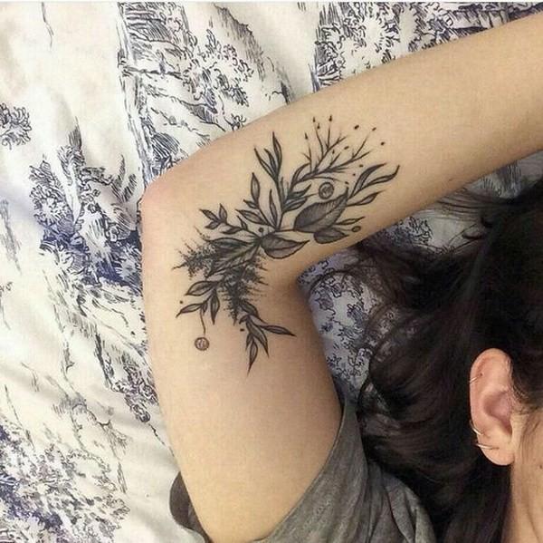Inner-Arm-Floral-Tattoo Pretty Flower Tattoo Ideas