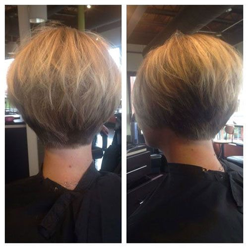 Nice-Short-Blond-Hairstyle Best Back of Bob Haircut Pictures