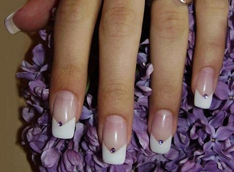 wedding-manicure-bridal-nails Wedding Nails French Rhinestones Gems They Are Totally Popular Right Now