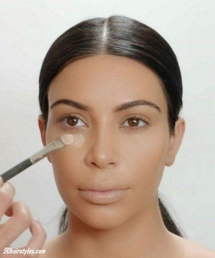1-Applying-foundation-with-mini-brush-1 6 Steps to Apply Makeup for Beginners