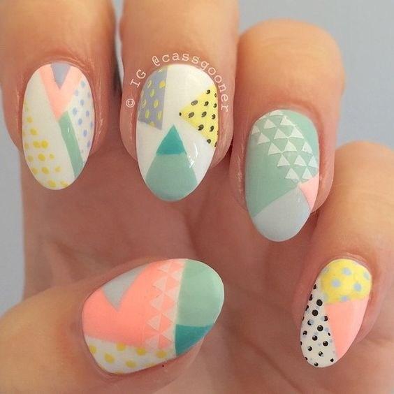 29-abstract-nail-art-ideas Cool Abstract Nail Art Ideas
