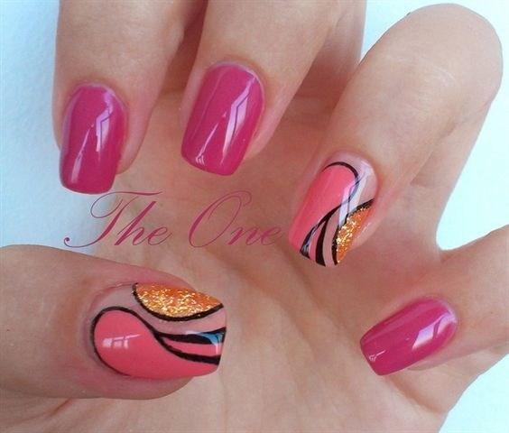 38-abstract-nail-art-ideas Cool Abstract Nail Art Ideas