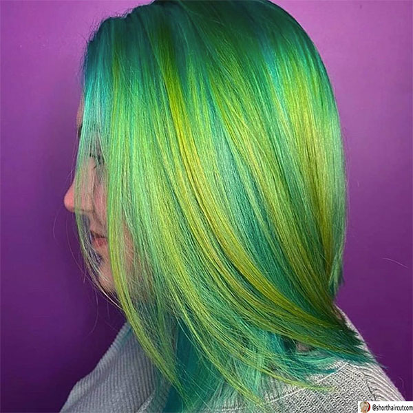 short-and-green-hairstyles-1-1 20 Short and Green Hairstyles You Will Want to Copy