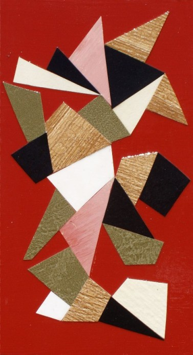 mixed media collage on board, 7 x 4 inches, SOLD